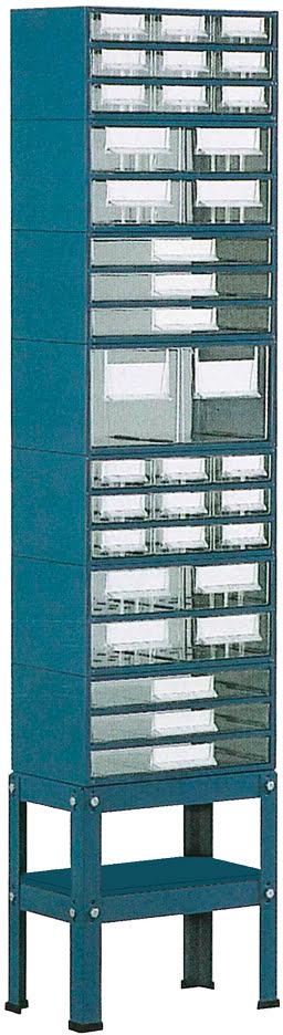 Suporte p / est. 5 a 8 c / Pés Médios 1 fila simp. t / met. azul