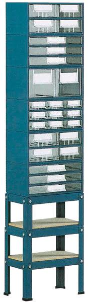Suporte p / est. 5 a 8 c / Pés Altos 1 fila simp. azul SUC
