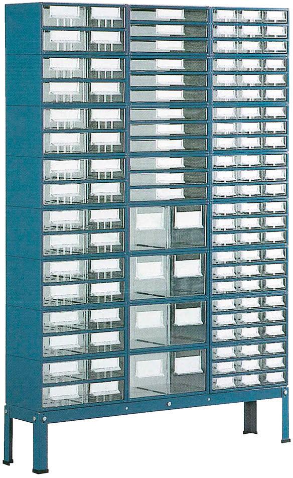 Suporte p / est. 5 a 8 c / Pés Baixos 3 filas simp. azul SUC
