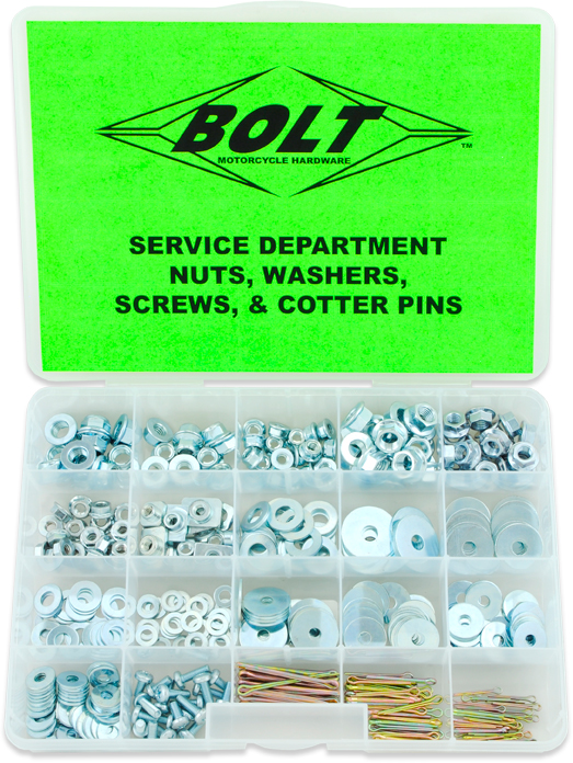 SVC NUT / WASHER / SCREW ASST BOLT MOTORCYCLE HARDWARE