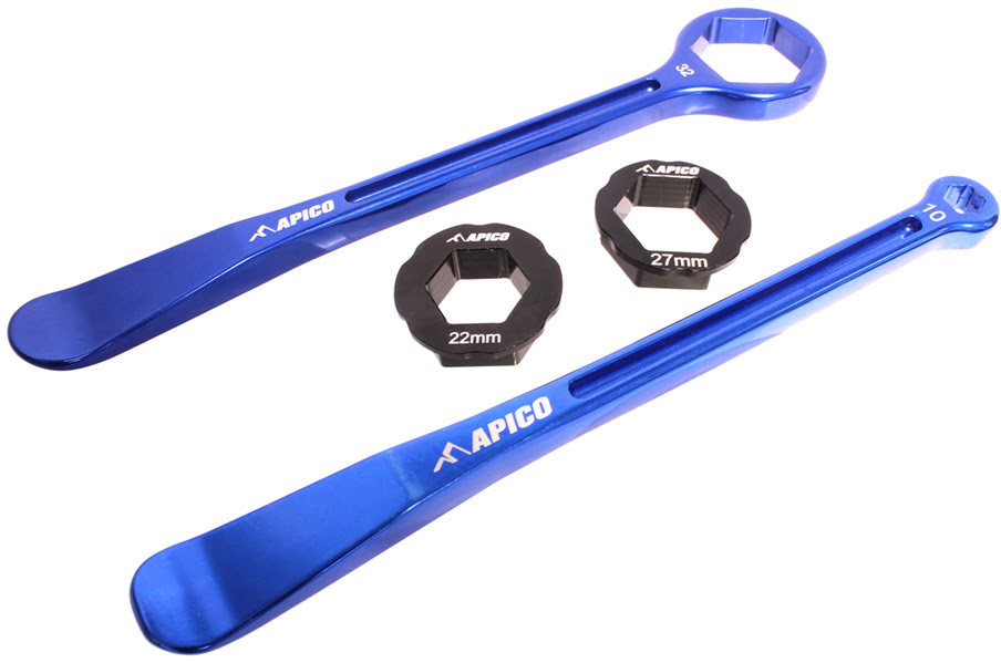 Desmonta pneus & Jogo de chaves 10,13,22,27,32mm APICO