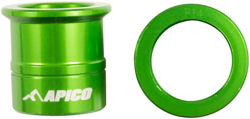 Casquilhos de roda da frente Verdes
