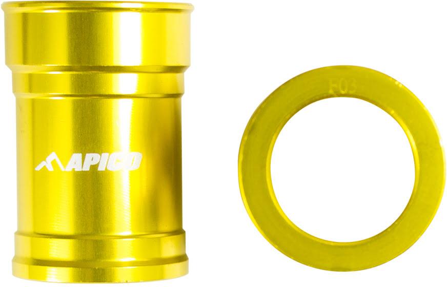 Casquilhos de roda da frente Amarelos APICO
