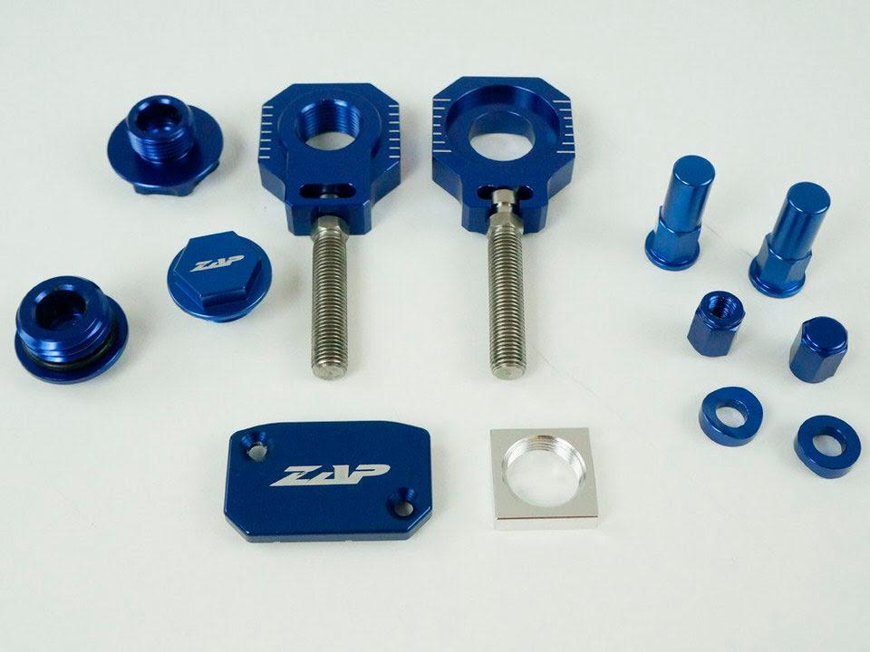 Kit de peças anodizadas Azuis
