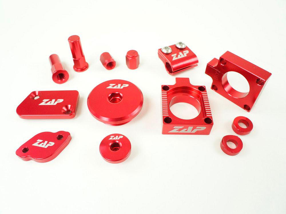 Kit de peças anodizadas Vermelhas