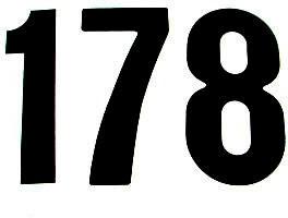 Numero Dorsal STANDARD 15cm Preto (25Un)