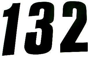 Numero Dorsal RACING 17cm Preto (25Un)