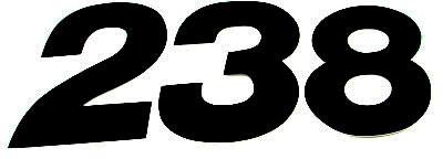 Numero Dorsal US-STYLE 15cm Preto (25Un)