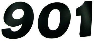 Numero Dorsal STANDARD 10cm Preto (25Un)